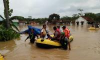 Basarnas Bersiaga di Lokasi Banjir Tasikmalaya