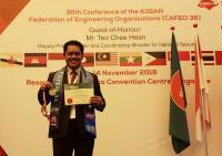 Rektor Untar Raih Penghargaan Honorary Membership Award 2018 di Singapura