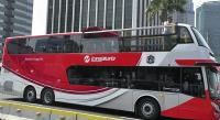 Transjakarta Sumbang Satu Bus Tingkat untuk Pawai Persija