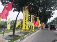 Disambut Nuansa Kuning Golkar, Jokowi Siap Beri Arahan Tim Pemenangan di Riau