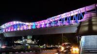 Kerennya JPO Jalan Dr Sumarno Jakarta Timur di Malam Hari