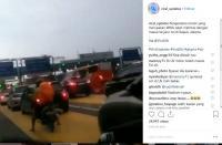 Viral Video WNA Naik Motor Masuk Jalan Tol