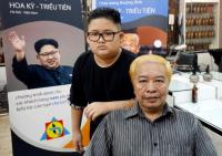 Peringati KTT AS-Korut, Salon di Hanoi Tawarkan Cukur Gratis Gaya Trump dan Kim Jong-un