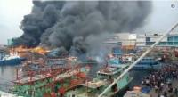 Penyebab Terbakarnya Kapal Nelayan di Muara Baru Diduga Mesin Las Sedot Air