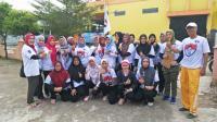 Serunya Mama-Mama Muda di Palembang Senam Aerobik Bersama Caleg Perindo