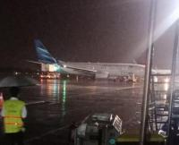 Pesawat Garuda Indonesia Tergelincir di Bandara Adisutjipto Yogyakarta