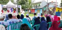 Caleg Perindo Gelar Bazar Beras Murah untuk Warga Cibinong