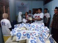 Meski Digelar Malam Hari, 250 Paket Beras Murah Perindo Kota Tanjungbalai Ludes