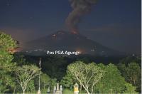 Gunung Agung Kembali Erupsi, Tinggi Kolom Abu Vulkanis 3.000 Meter