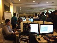 """TKN Jokowi-Ma'ruf Amin Buka-Bukaan Perlihatkan """"War Room"""" Rekapitulasi Suara"""