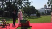 Jokowi & Putra Mahkota Abu Dhabi Tanam Pohon Damar di Istana Bogor