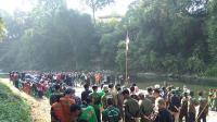 Peduli Sungai Cileungsi, Anggota Dewan Gelar Upacara di Pinggir Kali