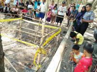 Semburan Api Mendadak Muncul dari Pekarangan Warga di Sragen
