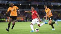 Man United Unggul 1-0 atas Wolverhampton Berkat Gol Martial