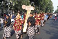 Tradisi Bulan Sura, Keris Milik Jokowi Dikirab