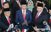 Jokowi Langsung Gelar Syukuran dengan Relawan di Istana Merdeka