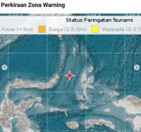 BMKG: Tsunami Terdeksi di Ternate, Jailolo dan Kota Bitung