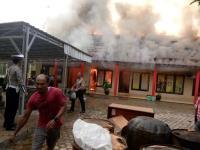 Polres Ogan Ilir Terbakar, Beberapa Amunisi dan Gas Air Mata Hangus