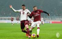 Ante Rebic Bawa AC Milan Ungguli Torino di Babak Pertama