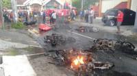 Sejumlah Motor Dibakar, Situasi Blitar Mencekam Imbas Laga Persebaya Vs Arema
