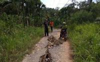 22 Rumah Rusak dan 4 KK Mengungsi Imbas Pergeseran Tanah di Bengkulu