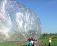 Warga Amankan Balon Udara Raksasa yang Jatuh di Gunungkidul