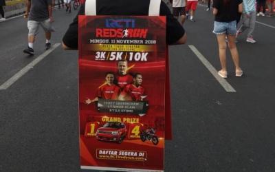 RCTI Red Runs Ramaikan Kegiatan CFD di Sudirman