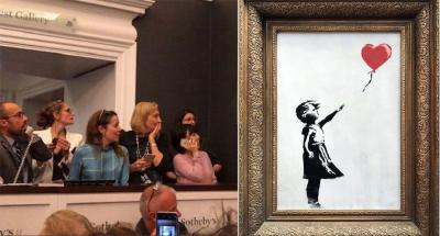 Lukisan Love In The Bin yang Hampir Hancur Terjual dengan Harga Rp27 Miliar!