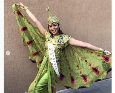 Keseruan Alya Nurshabrina Parade Kostum di Karantina Miss World 2018