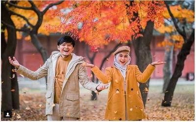 5 Potret Kemesraan Anisa Rahma & Suami Bulan Madu di Korea, Kompak Banget!