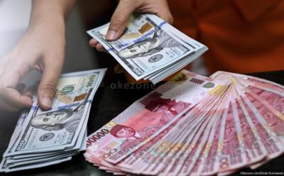Dolar Balik Menguat, Rupiah Melemah 0,14% ke Rp14.607