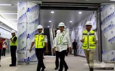 Persiapan MRT, Presiden: Beberapa Bulan Lagi, Beroperasi di Jakarta