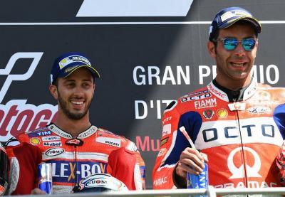 Dall'Igna Ragu Motor Ducati Kompetitif di Tangan Dovizioso dan Petrucci