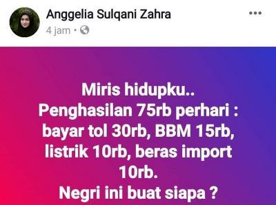 """Viral Keluhan Miris Hidupku Penghasilan Rp75 Ribu per Hari, Netizen: """"Halo Warung Nasi Padang, Otak Ada?"""""""