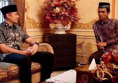 AHY Bertemu Ustadz Abdul Somad di Pekanbaru