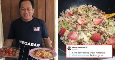 Viral Politikus Malaysia Masak Nasi Goreng Pakai Stroberi, Netizen Lapor Polisi