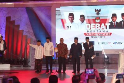 Debat Perdana Pilpres Dinilai Masih Kaku dan Garing