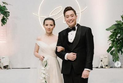 Begini Penampilan Edric Tjandra dan Istri dalam Resepsi Pernikahan di Bali