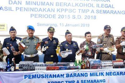 Musnahkan 6,9 Juta Batang Rokok Ilegal, Bea Cukai Semarang Selamatkan Rp 3 Miliar