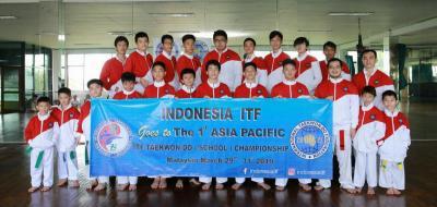 Indonesia ITF Ikut Kejuaraan Taekwondo Antarpelajar Se-Asia Pasifik