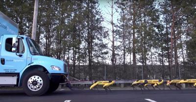 Robot Menyerupai Anjing Bisa Tarik Mobil Truk, Ini Videonya