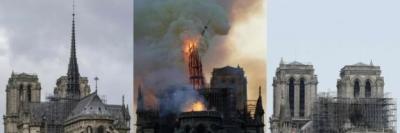 Presiden Macron Berjanji Membangun Kembali Gereja Katedral Notre Dame Lebih Indah