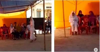 Penampakan Mahluk Halus Pocong Nyoblos di TPS Palu Bikin Heboh Warga