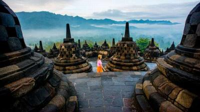 Wisatawan Asing Dapat Perlakuan Khusus di Borobudur