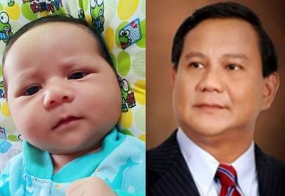 Viral Foto Bayi Mirip Prabowo di Medsos, Netizen: Semoga Jadi Presiden