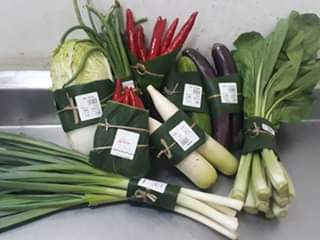 Viral di Medsos, Supermarket di Bali Pakai Daun Pisang untuk Bungkus Sayuran