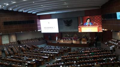 Rapat Paripurna, Sri Mulyani: Ekonomi RI Ditarget Tumbuh 5,6% pada 2020