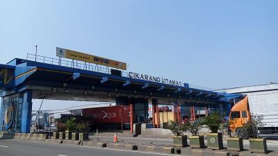Penampakan Gerbang Tol Cikarang Utama Sebelum Dibongkar 23 Mei