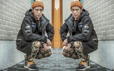 Muncul Potret Jokowi Berbusana ala Anak Hip Hop Jalanan, Netizen : Keren Banget!
