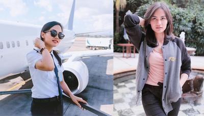 Potret Penampilan Pilot Cantik Mellisa Anggiarti yang Fashionable nan Simpel